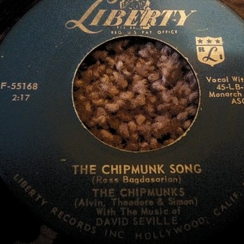The Chimpmunks...On 45 RPM Vinyl - Christmas