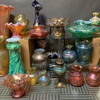 Heckert glass collection,2017- 2020 update picture, Circa 1887-1905 - Art Glass