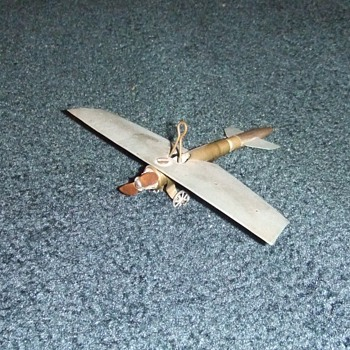 WW1 Trench Art airplane model - Military and Wartime