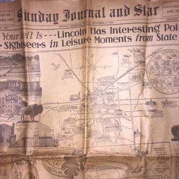 Sept. 3, 1933 State Fair Lincoln Nebraska -Newspaper - Paper