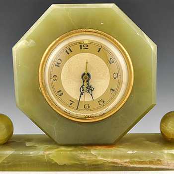 Whitehall Hammond Green Oynx Mantle Clock 1931