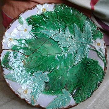 old majolica plate,