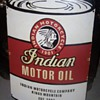Indian Motorcycle Company Motor Oil Porcelain Sign