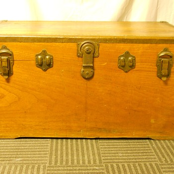 My First Steamer Trunk(Basswood), In The Thrash, oooh I LOVE IT, Circa 20 Century - Furniture