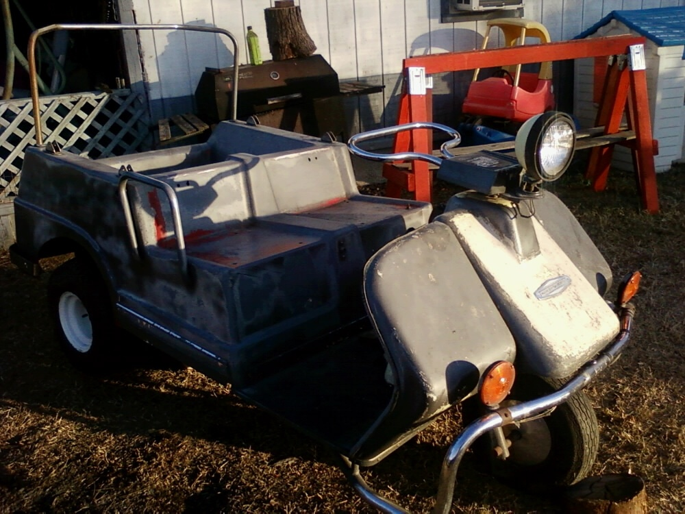 Harley davidson golf cart | Collectors Weekly