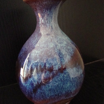 sang de boeuf vase - Pottery