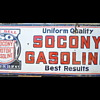 Large SACONY gasoline porcelian sign
