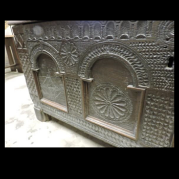 18th century hand-carved chest?  - Furniture