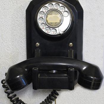 vintage juke box or coffin wall phone; it works! - Telephones