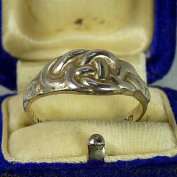 Alexander Ritchie of Iona - Silver Serpent Ring - Arts and Crafts