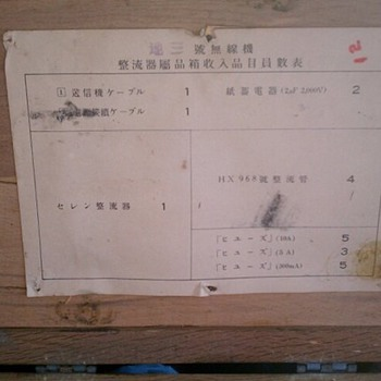 Mystery WWII Japanese Crate All Labels Intact - Military and Wartime
