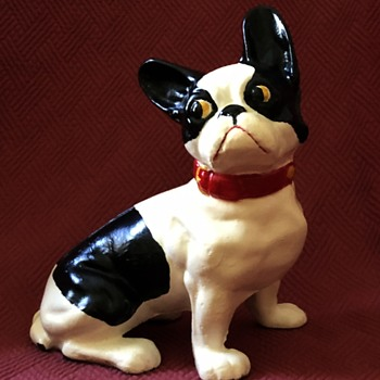 Vintage 1930's French Bulldog Doorstops - Animals