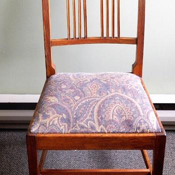 c 1800 Canadian Branderback chair ,Yellow Birch  with inlaid Ebony