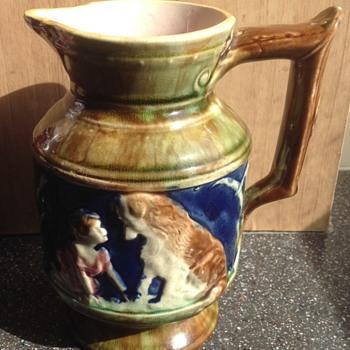 Majolica pottery jug - Pottery