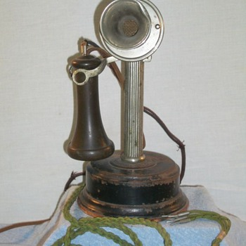 American Electric Co. Fluted Shaft Candlestick - Telephones