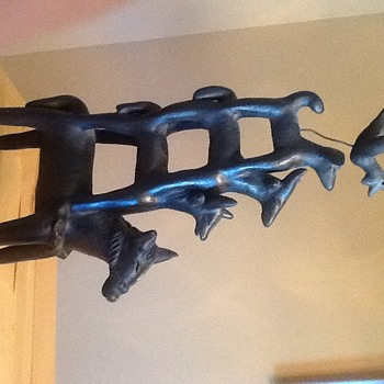 Cast Iron - Animals Stacked Statue - Mexico