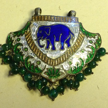 Indian Tribal Meenakari Enamel Elephant Pendant? - Fine Jewelry