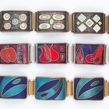 German Matte Enamel Bracelets - Fine Jewelry