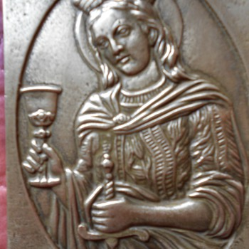 engraved bronze plaque