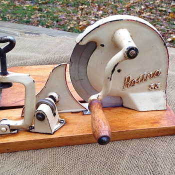 vintage hand crank meat slicer - Kitchen
