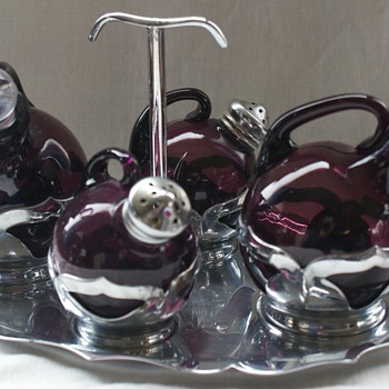 Farber Brothers condiment set - Art Deco