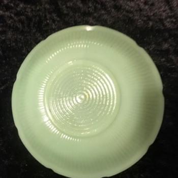 Green dish - Glassware