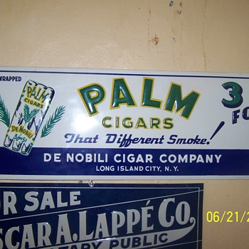 Palm cigars sign - Advertising