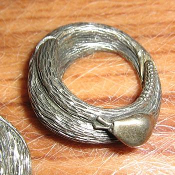 Tortolani snake wrap clip hoop earrings - Costume Jewelry