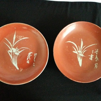 Red Glaze Chinese plates