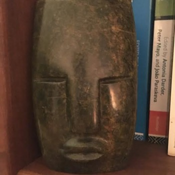 Zimbabwean Abstract Face Sculpture - Fine Art