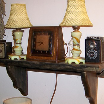 Houze slag lamps with other vintage goodies