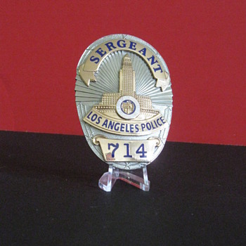 Los Angeles Police Department  .  .  .  Badge 714