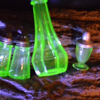Teeny Tiny Miniature Green Depression Glass Salt Shaker... - Kitchen