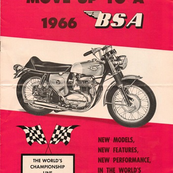 1966 - B.S.A. Motorcycles Sales Brochure - Paper