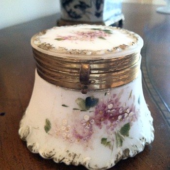 Victorian Milk Glass Hinged Box - Glassware