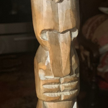 Mystery Carved Tiki?  with MOP eyes. - Fine Art