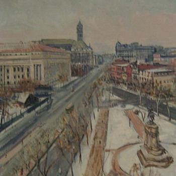 View of Pennsylvania Ave From 7th Street - Cityscape by Dorsey Doniphan