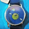 """AstroTime """"Mystery"""" Dial Lunar Theme Wristwatch"""
