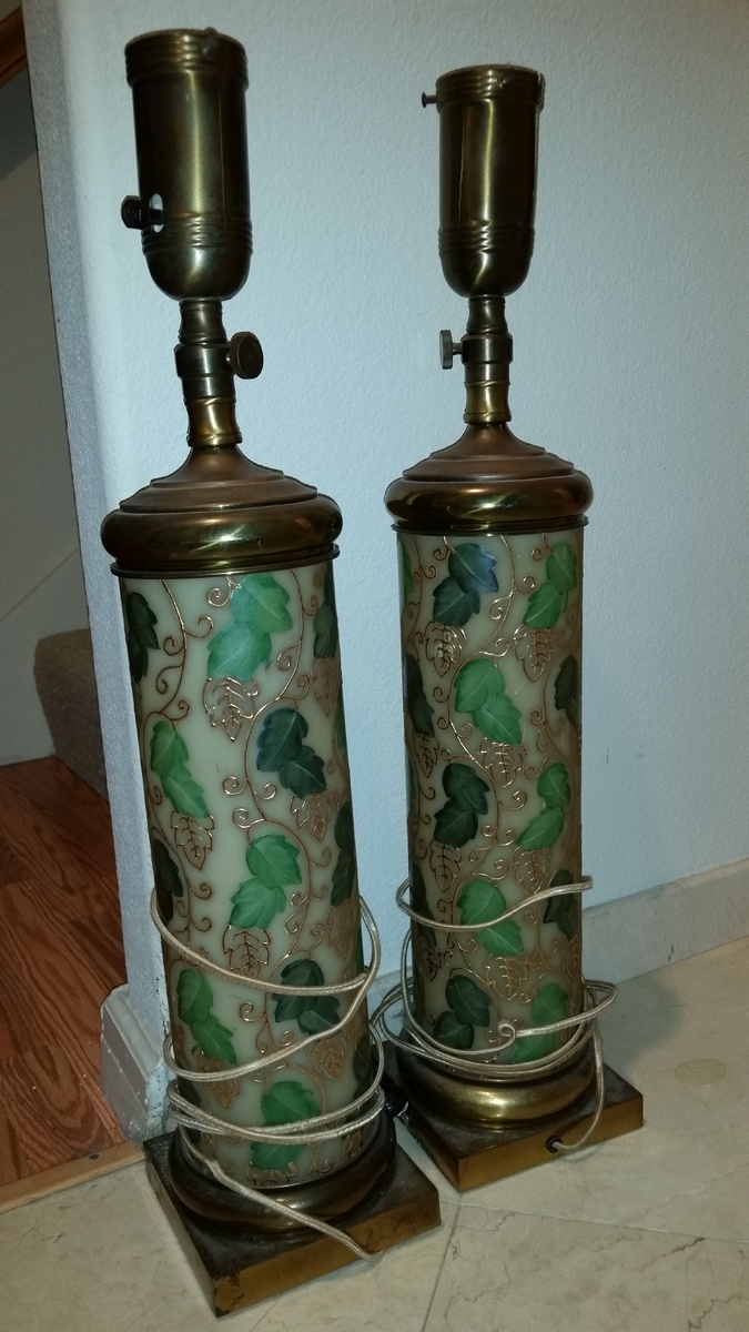 antique hand painted lamps Vintage hand painted lamps | Collectors Weekly antique hand painted lamps