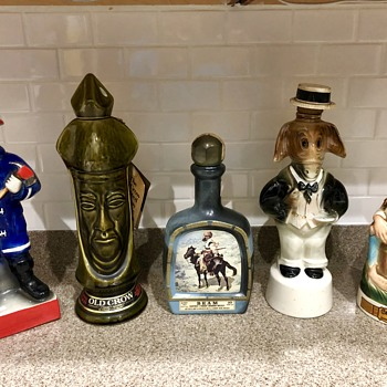 Vintage Whiskey decanters  - Bottles