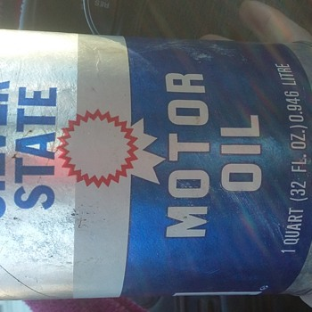 Silver State motor oil can