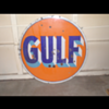 Double Sided Gulf Porcelain Sign (Age?)