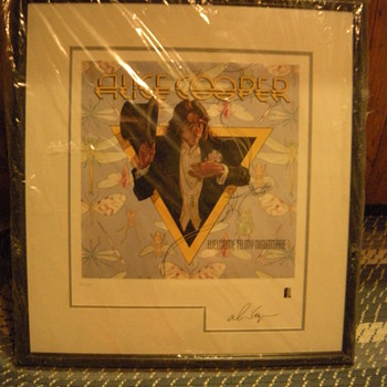 Autographed Alice Cooper numbered, framed lithograph - Music Memorabilia