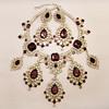 Vintage Kenneth Jay Lane Massive Rhinestone Necklace and Earrings Set