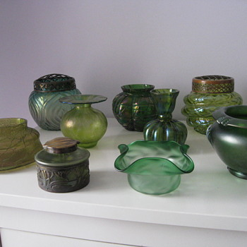 Fifty Shades of Green - Art Glass