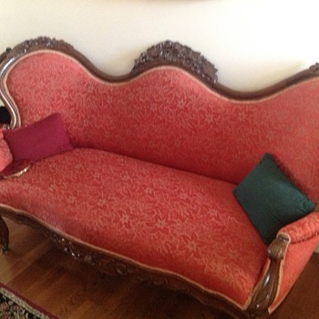 Victorian sofa with matching chairs