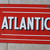 ATLANTIC PORCELAIN GAS PUMP SIGN
