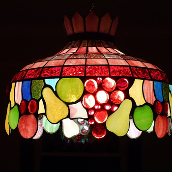 Dining Room Stained Glass Shade - Glassware