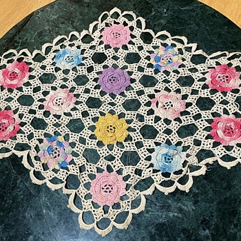 Colorful Doily - Rugs and Textiles