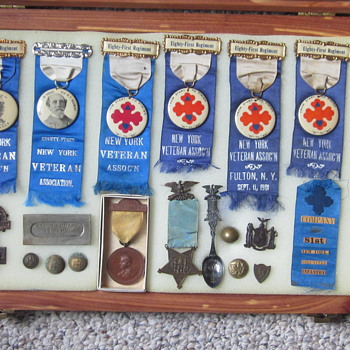 Veteran's Items once belonging to Pvt. LaPoint of 81st NYV regiment. - Military and Wartime